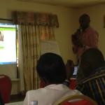 Hostalite's East Africa regional MD, Dickson Mushabe presenting the Web Portal.